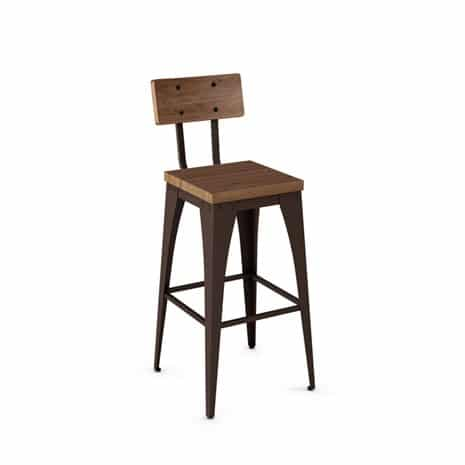 wood Barstool with backrest