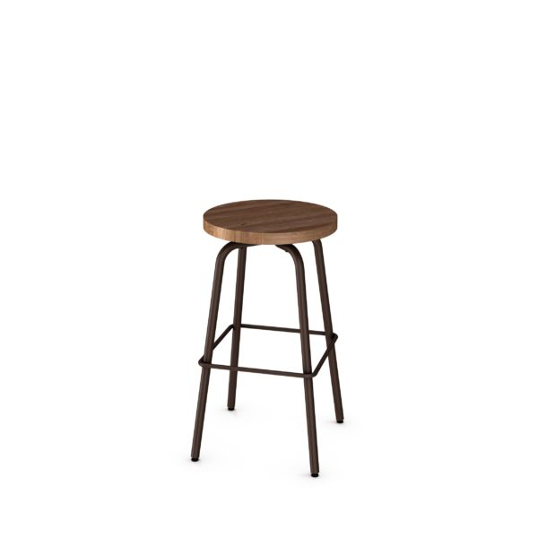 wood button stool